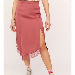 NWT Free People hey you slip skirt small